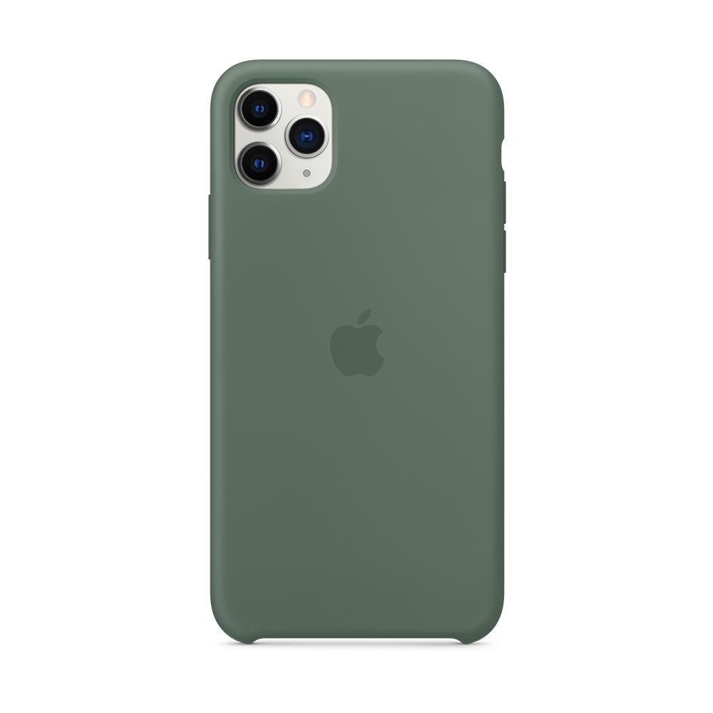 iPhone 11 Pro Max 실리콘 케이스 - 파인 그린 (MX012FE/A)