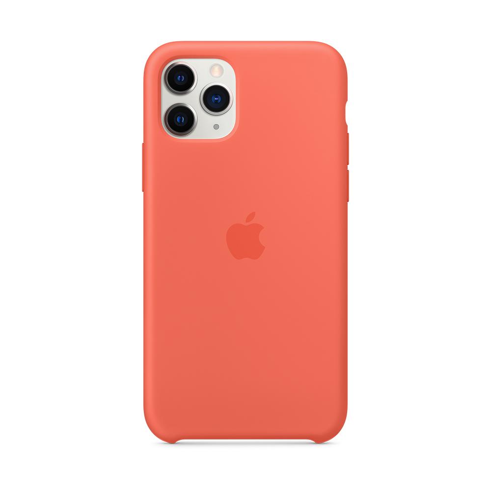 iPhone 11 Pro Max 실리콘 케이스 - 클레멘타인 (오렌지) (MX022FE/A)
