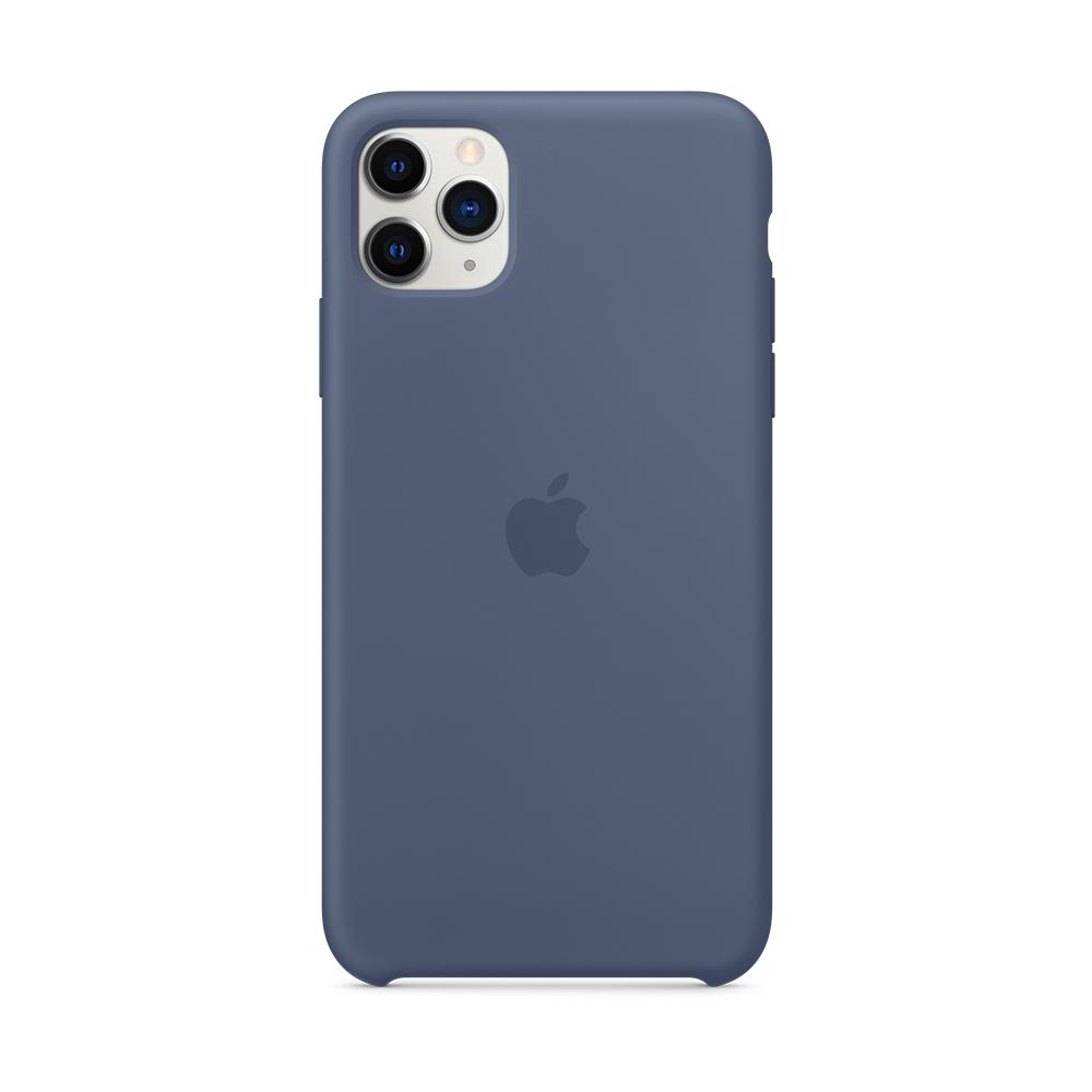 iPhone 11 Pro Max 실리콘 케이스 - 알래스칸 블루 (MX032FE/A)