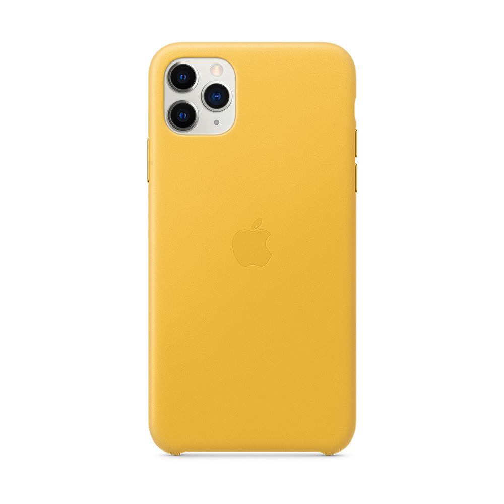 iPhone 11 Pro Max 가죽 케이스 - 메미어 레몬 (MX0A2FE/A)