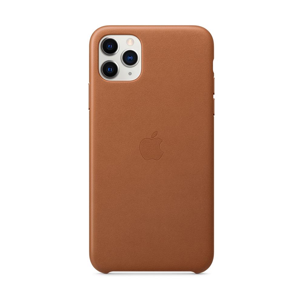 iPhone 11 Pro Max 가죽 케이스 - 새들 브라운 (MX0D2FE/A)