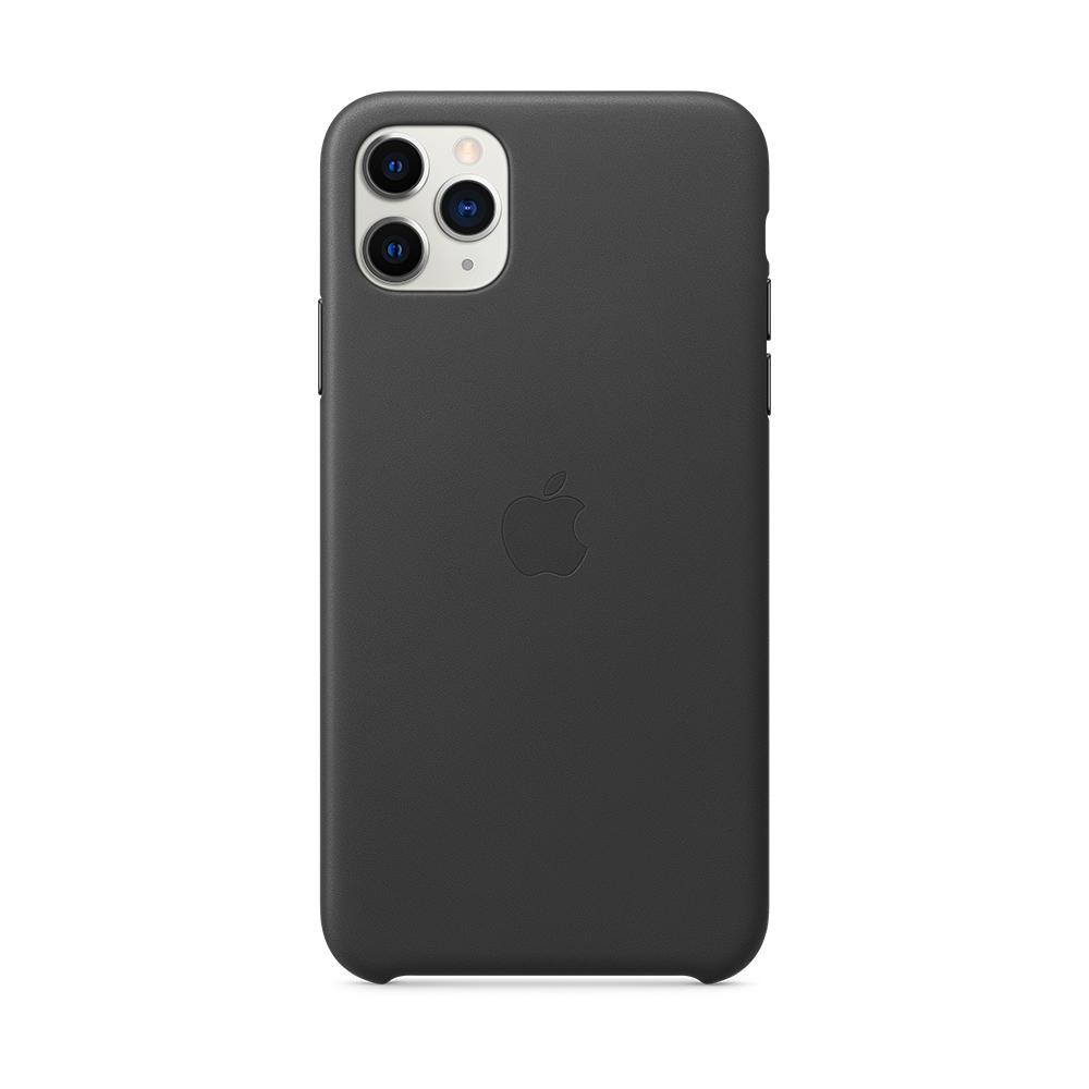 iPhone 11 Pro Max 가죽 케이스 - 블랙 (MX0E2FE/A)