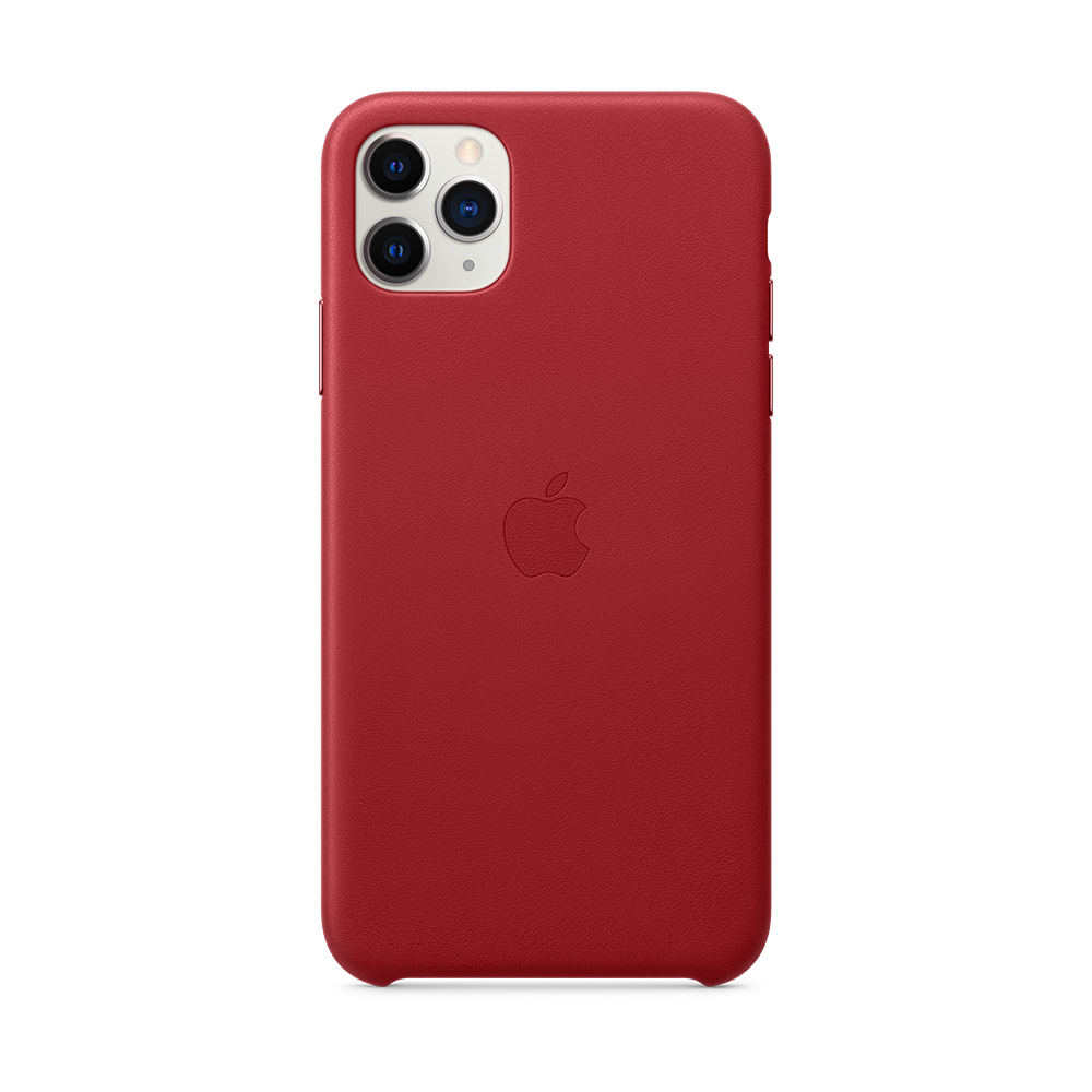 iPhone 11 Pro Max 가죽 케이스 - (PRODUCT)RED (MX0F2FE/A)