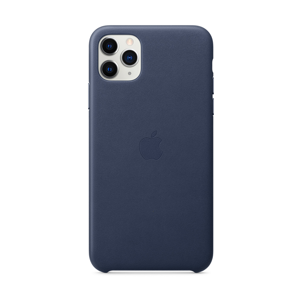 iPhone 11 Pro Max 가죽 케이스 - 미드나이트 블루 (MX0G2FE/A)