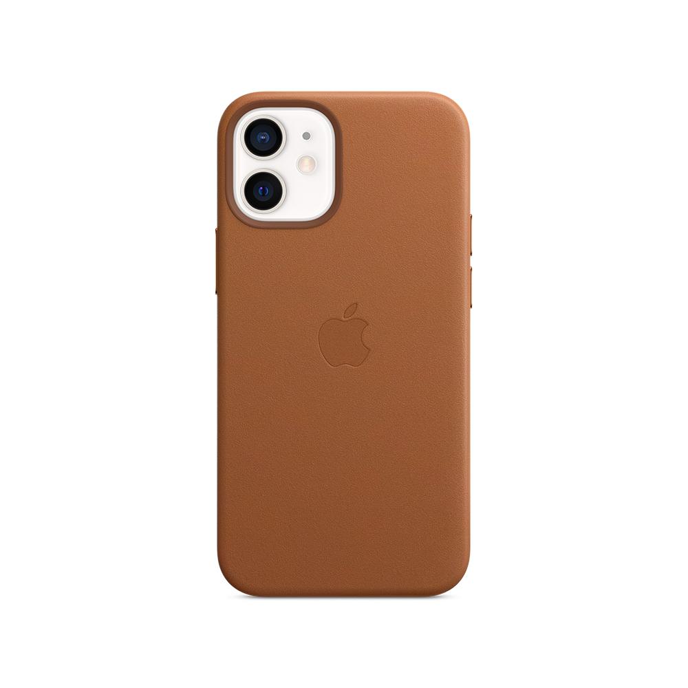 Mag Safe형 iPhone 12 mini 가죽케이스 - 새들브라운 (MHK93FE/A)