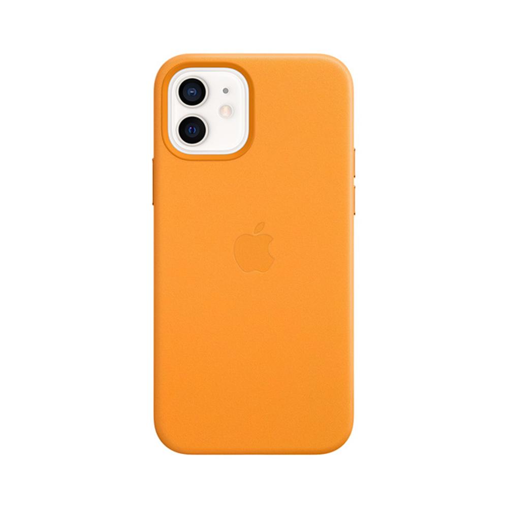 Mag Safe형 iPhone 12/ 12 Pro 가죽케이스 - 캘리포니아포피 (MHKC3FE/A)
