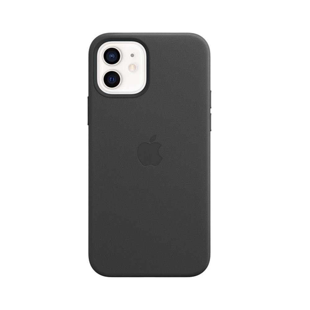 Mag Safe형 iPhone 12/ 12 Pro 가죽케이스 - 블랙 (MHKG3FE/A)