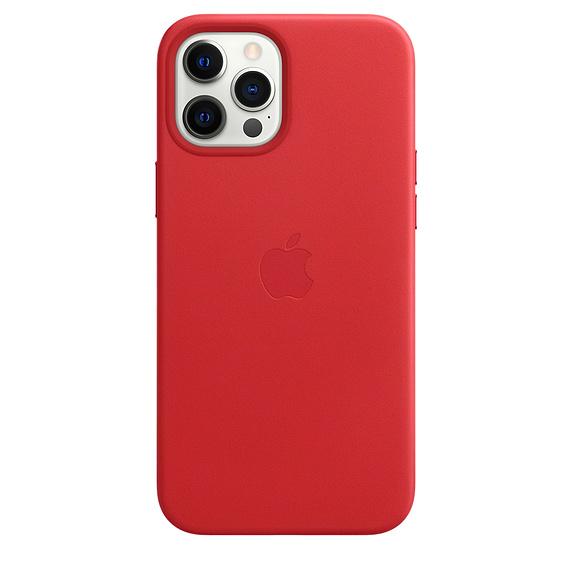 Mag Safe형 iPhone 12 Pro Max 가죽케이스 - (PRODUCT)레드 (MHKJ3FE/A)