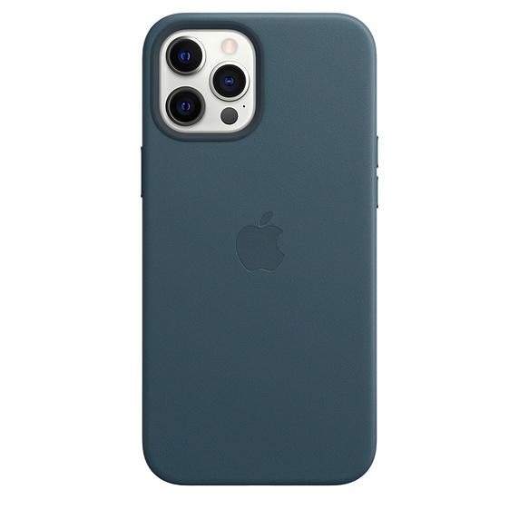 Mag Safe형 iPhone 12 Pro Max 가죽케이스 - 발틱 블루 (MHKK3FE/A)