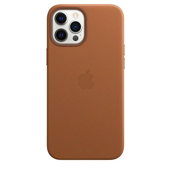 Mag Safe형 iPhone 12 Pro Max 가죽케이스 - 새들브라운 (MHKL3FE/A)