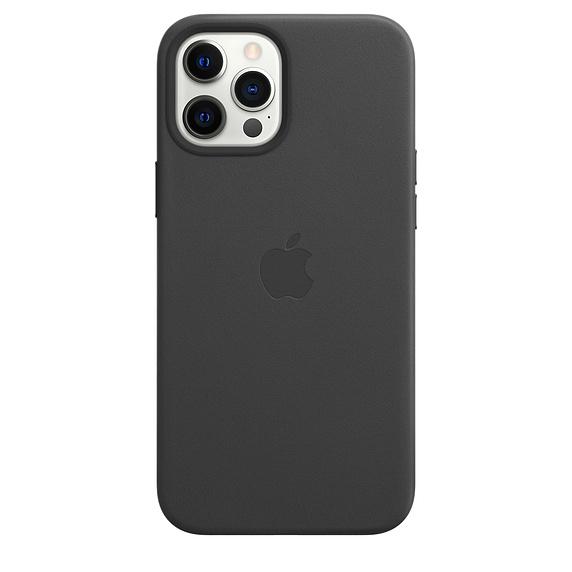 Mag Safe형 iPhone 12 Pro Max 가죽케이스 - 블랙 (MHKM3FE/A)