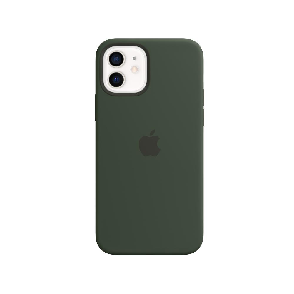 Mag Safe형 iPhone 12 mini 실리콘케이스 - 사이프러스그린 (MHKR3FE/A)