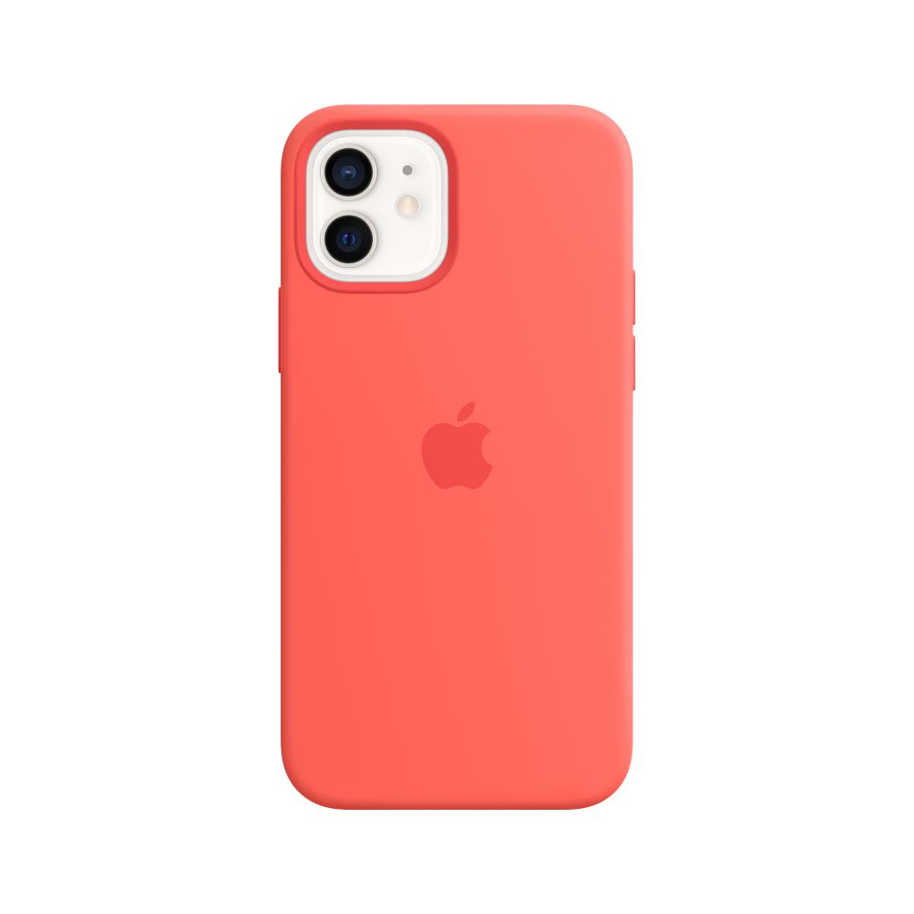 Mag Safe형 iPhone12/12Pro 실리콘케이스 - 핑크시트러스 (MHL03FE/A)