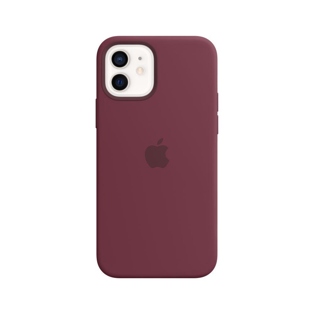 Mag Safe형 iPhone12/12Pro 실리콘케이스 - 플럼 (MHL23FE/A)