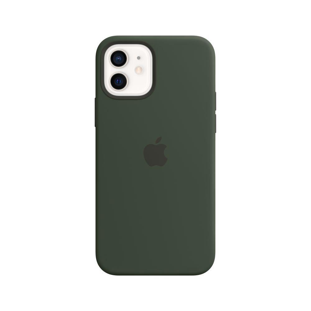 Mag Safe형 iPhone12/12Pro 실리콘케이스 - 사이프러스그린 (MHL33FE/A)