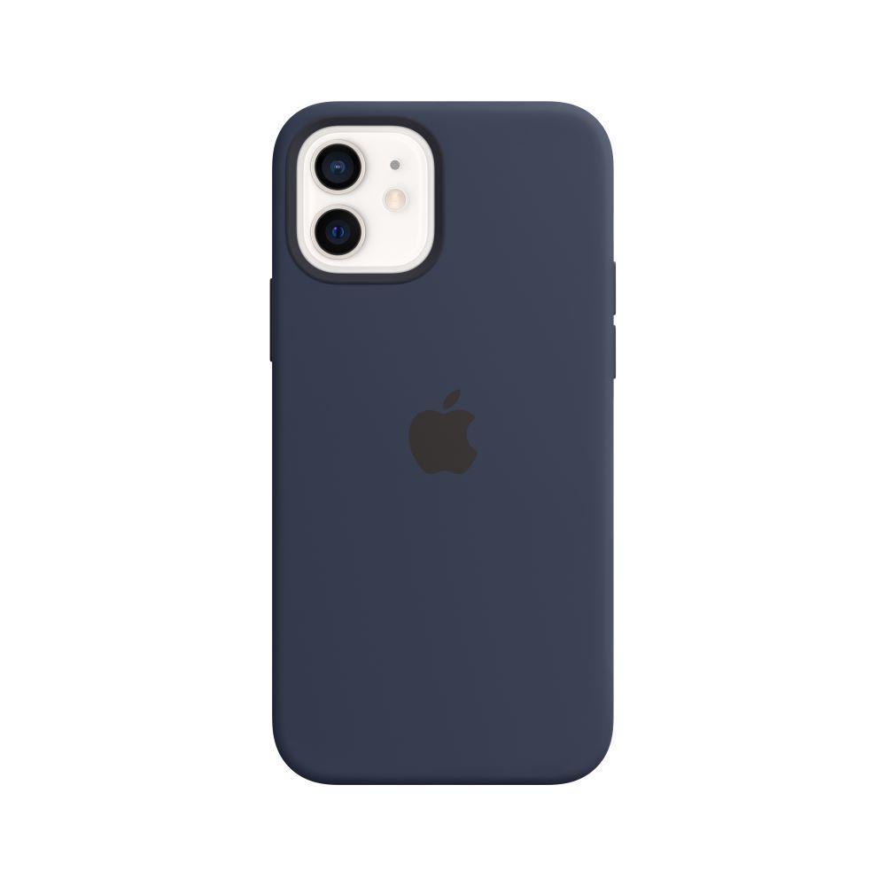 Mag Safe형 iPhone12/12Pro 실리콘케이스 - 딥네이비 (MHL43FE/A)