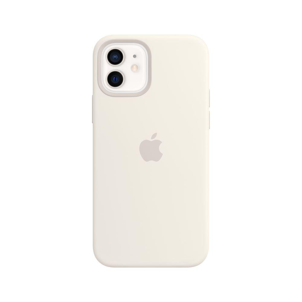 Mag Safe형 iPhone12/12Pro 실리콘케이스 - 화이트 (MHL53FE/A)