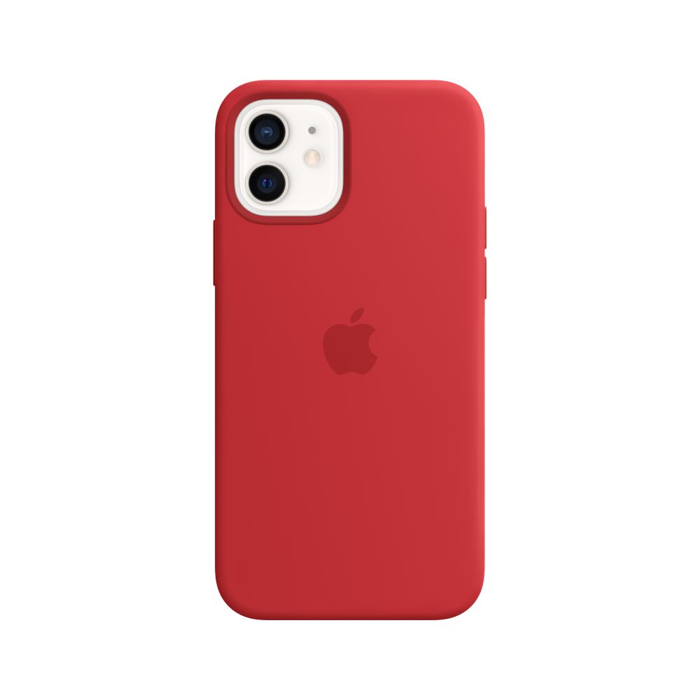 Mag Safe형 iPhone12/12Pro 실리콘케이스 - 레드 (MHL63FE/A)