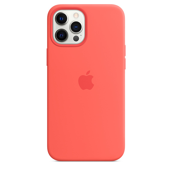 Mag Safe형 iPhone 12 Pro Max 실리콘케이스 - 핑크시트러스 (MHL93FE/A)