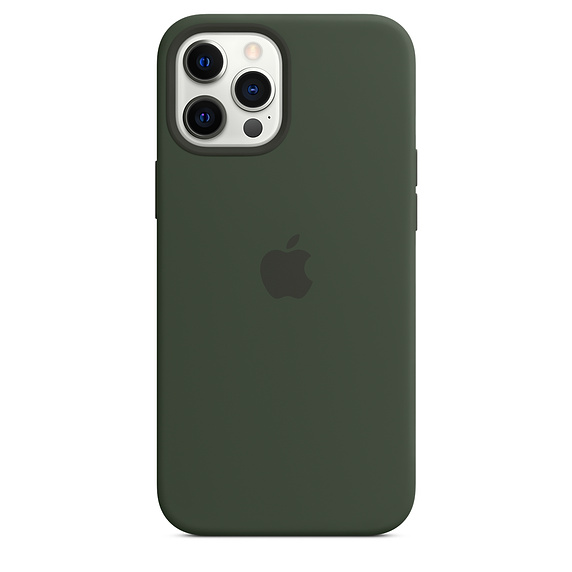 Mag Safe형 iPhone 12 Pro Max 실리콘케이스 - 사이프러스그린 (MHLC3FE/A)
