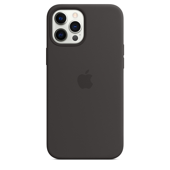 Mag Safe형 iPhone 12 Pro Max 실리콘케이스 - 블랙 (MHLG3FE/A)