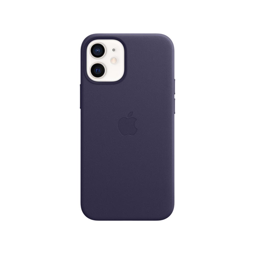 MS형 iPhone 12 mini 가죽 케이스 - 딥 바이올렛 (MJYQ3FE/A)