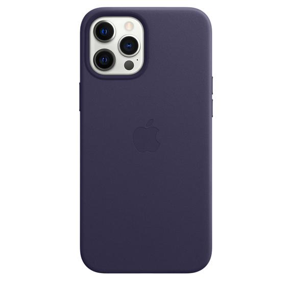 MS형 iPhone 12 Pro Max 가죽 케이스 - 딥바이올렛 (MJYT3FE/A)