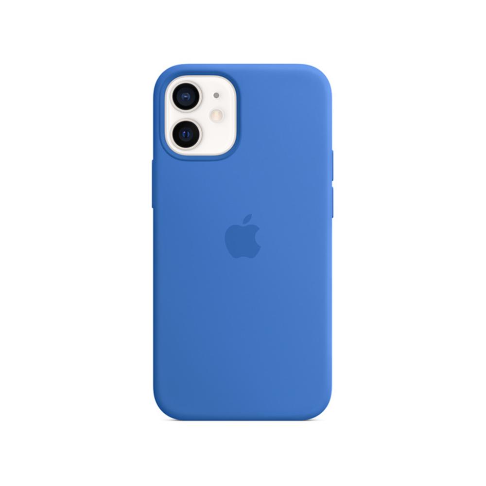 MS형 iPhone 12 mini 실리콘 케이스 - 카프리 블루 (MJYU3FE/A)