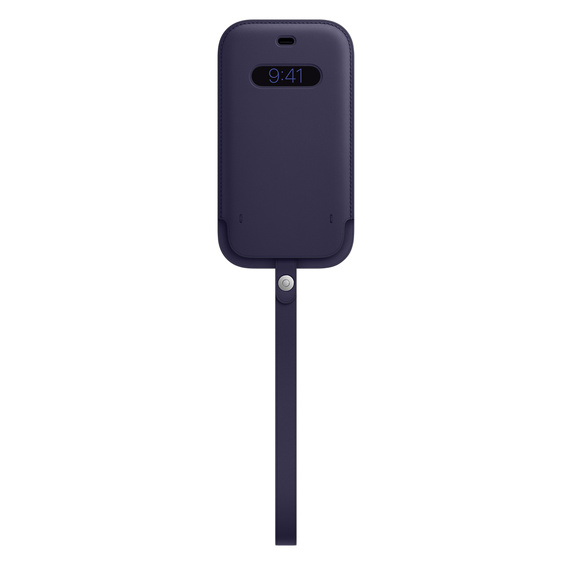 MS형 iPhone 12 | 12 Pro 가죽 슬리브 - 딥 바이올렛 (MK0A3FE/A)