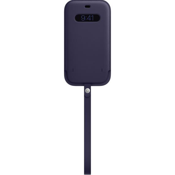 MS형 iPhone 12 Pro Max 가죽 슬리브 - 딥 바이올렛 (MK0D3FE/A)
