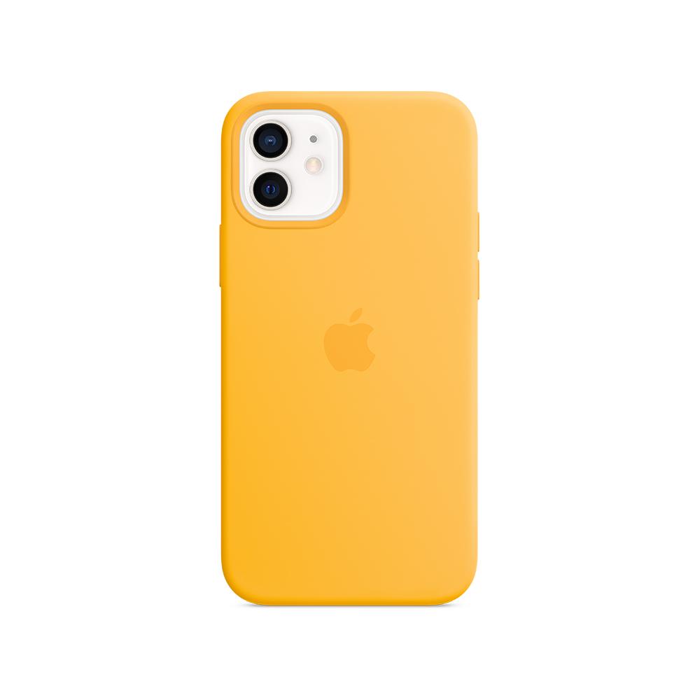 Mag Safe형 iPhone12/12Pro 실리콘케이스 - 썬플라워 (MKTQ3FE/A)