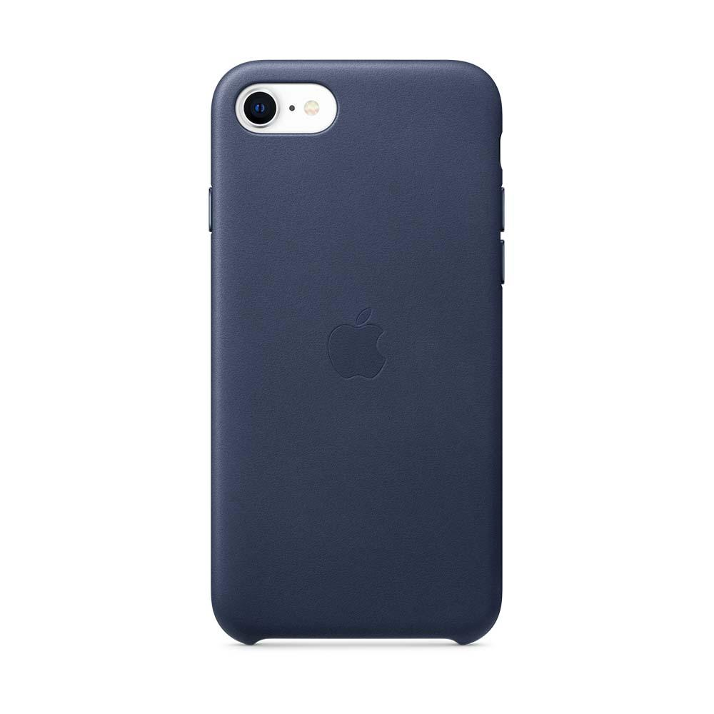 iPhone SE 가죽 케이스 - 미드나이트 블루 (MXYN2FE/A)