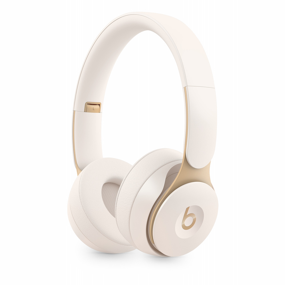 Solo Pro Wireless Noise Cancelling 헤드폰 - 아이보리 (MRJ72ZP/A)