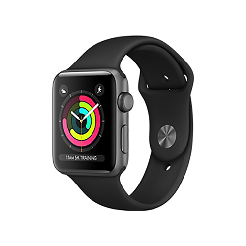 Apple Watch Series 3 GPS 38mm 스페이스 그레이 알루미늄 케이스와 블랙 스포츠 밴드 (MTF02KH/A)