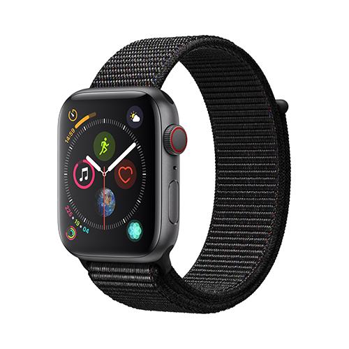 Apple Watch Series 4 GPS+Cellular 40mm 스페이스 그레이 알루미늄 케이스와 블랙 스포츠 루프 (MTVF2KH/A)