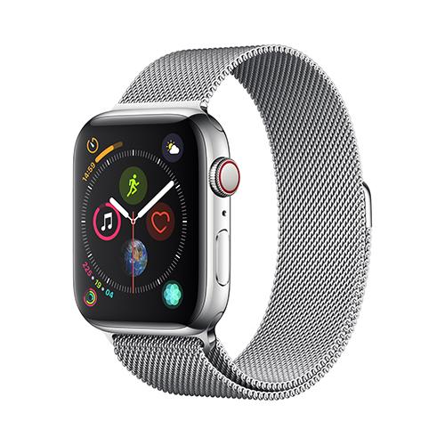 Apple Watch Series 4 GPS+Cellular 44mm 스테인리스 스틸 케이스와 밀라네즈 루프 (MTX12KH/A)