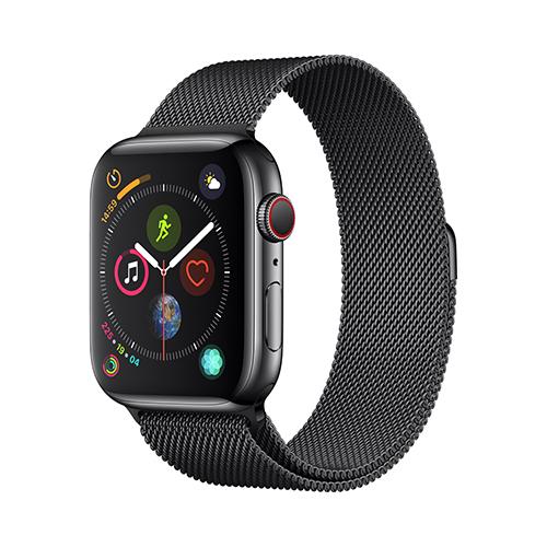 Apple Watch Series 4 GPS+Cellular 40mm 스페이스블랙 스테인리스 스틸 케이스와 스페이스블랙 밀라네즈 루프 (MTVM2KH/A)