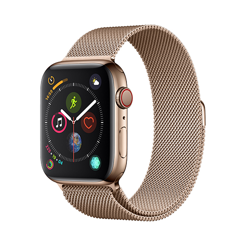 Apple Watch Series 4 GPS+Cellular 44mm 골드 스테인리스 스틸 케이스와 골드 밀라네즈 루프 (MTX52KH/A)