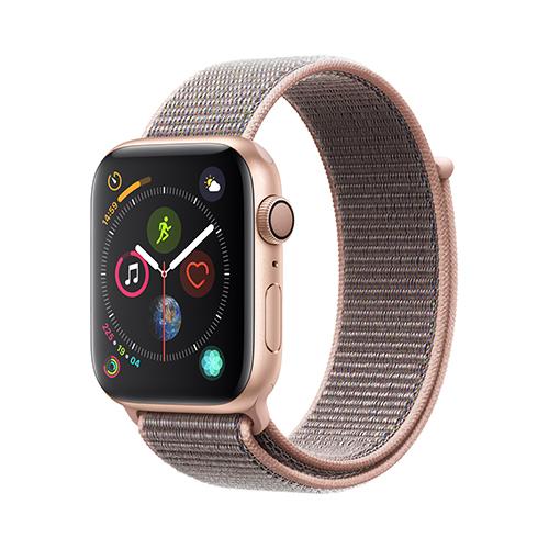 Apple Watch Series 4 GPS 44mm 골드 알루미늄 케이스와 핑크 샌드 스포츠 루프 (MU6G2KH/A)