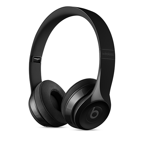 Beats Solo3 Wireless 온 이어 헤드폰 - 유광 블랙 (MNEN2ZP/A)