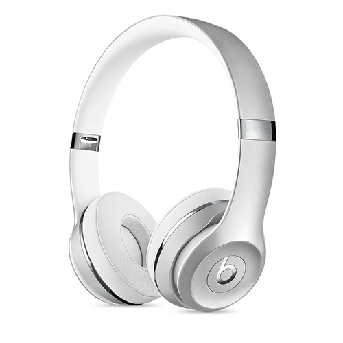 Beats Solo3 Wireless 온 이어 헤드폰 - 실버 (MNEQ2ZP/A)