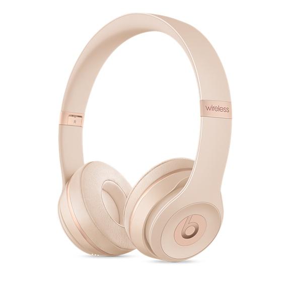 Beats Solo3 Wireless 온 이어 헤드폰 - 무광 골드 (MR3Y2PA/A)