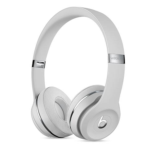 Beats Solo3 Wireless 온 이어 헤드폰 - 새틴 실버 (MUH52PA/A)
