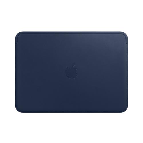 12형 MacBook용 가죽 슬리브 - 미드나이트 블루 (MQG02FE/A)