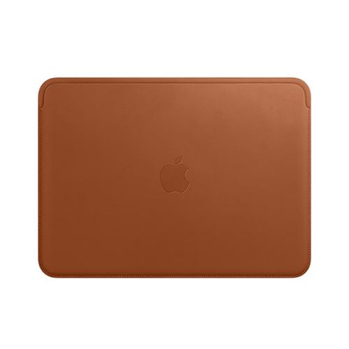 12형 MacBook용 가죽 슬리브 - 새들 브라운 (MQG12FE/A)