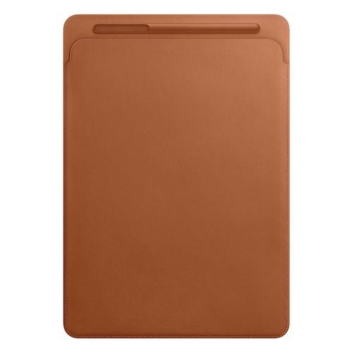12.9형 iPad Pro용 가죽 슬리브 - 새들 브라운 (MQ0Q2FE/A)
