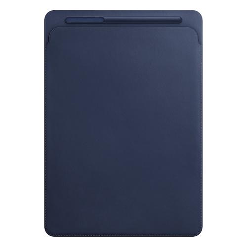 12.9형 iPad Pro용 가죽 슬리브 - 미드나이트 블루 (MQ0T2FE/A)