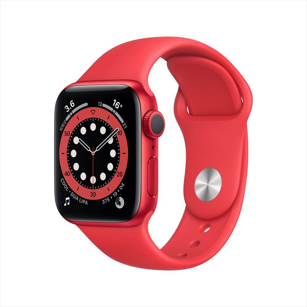 Apple Watch Series 6 GPS 40mm RED 알루미늄 케이스, 그리고 RED 스포츠 밴드 (M00A3KH/A)
