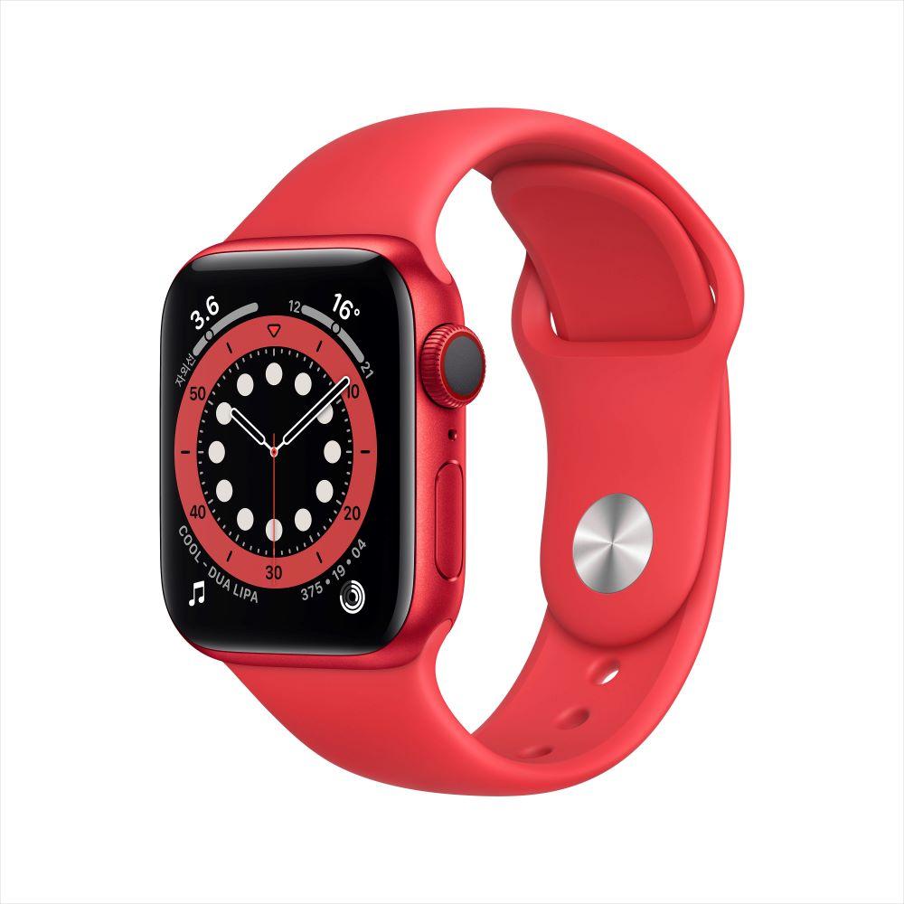 [사전예약] Apple Watch Series 6 Cellular 40mm RED 알루미늄 케이스, 그리고 RED 스포츠 밴드 (M06R3KH/A)