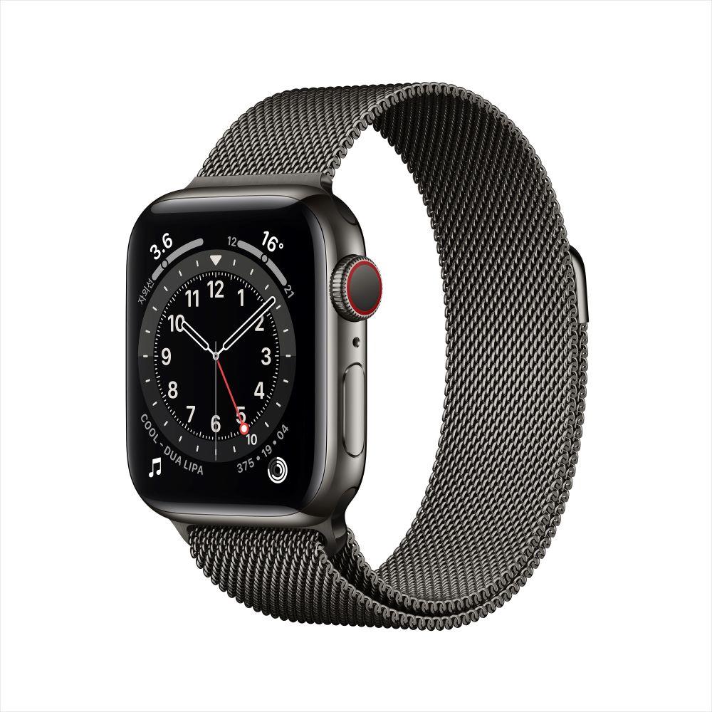 [사전예약] Apple Watch Series 6 Cellular 40mm 그래파이트 스테인리스 케이스, 그리고 그래파이트 밀레니즈 루프 (M06Y3KH/A)